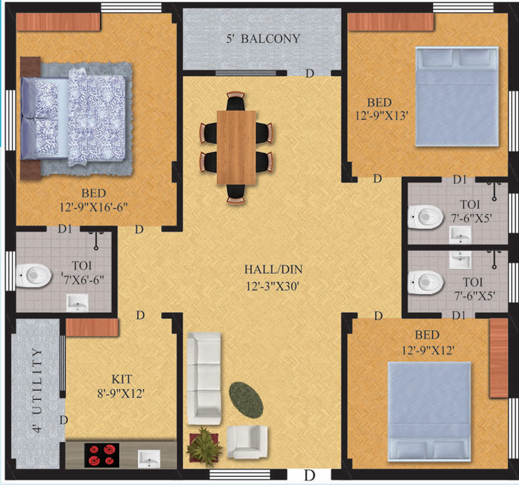 Pavan Towers Floor Plan
